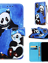 cheap -Case For Apple iPhone 11 / iPhone 11 Pro / iPhone 11 Pro Max Wallet / Card Holder / with Stand Full Body Cases Panda PU Leather for iPhone XS MAX XR XS X 8 PLUS 7 PLUS 6 PLUS 8 7 6S