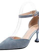 cheap -Women's Heels Stiletto Heel Pointed Toe Suede Spring & Summer Black / Blue