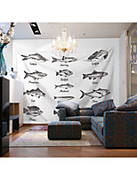 cheap -Custom Tapestry painting fish suitable for bedroom living room Party activities TV background wall decoration Wall Tapestries Decoration