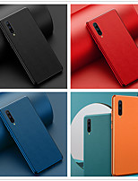 cheap -Case For Huawei Huawei P20 / Huawei P20 Pro / Huawei P30 Plating / Frosted Back Cover Solid Colored PU Leather / TPU / PC
