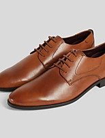 cheap -Men's Nappa Leather Spring & Summer Oxfords Waterproof Brown