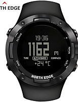 cheap -NORTH EDGE Unisex Military Watch Japanese Automatic self-winding Modern Style Sporty Rubber Black 50 m Water Resistant / Waterproof Thermometer LED Light Digital Casual Outdoor - Black One Year