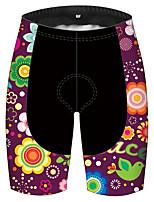 cheap -21Grams Women's Cycling Shorts Bike Shorts Padded Shorts / Chamois Pants Breathable 3D Pad Quick Dry Sports Floral Botanical Violet Mountain Bike MTB Road Bike Cycling Clothing Apparel Bike Wear