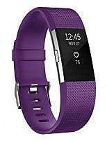 Недорогие -Ремешок для часов для Fitbit Charge Fitbit Классическая застежка силиконовый Повязка на запястье