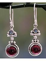 cheap -Women's Synthetic Amethyst Earrings Retro Ball Sweet Earrings Jewelry Light Purple For Daily Street 1 Pair
