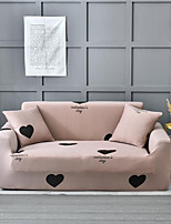 cheap -Khaki Heart Print Dustproof All-powerful Slipcovers Stretch Sofa Cover Super Soft Fabric Couch Cover with One Free Pillow Case