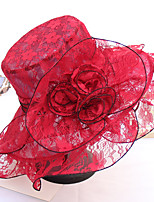 cheap -Vintage Style Fashion Lace Hats / Headwear with Lace / Flower / Trim 1 Piece Wedding / Outdoor Headpiece