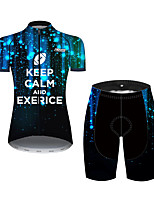 cheap -21Grams Women's Short Sleeve Cycling Jersey with Shorts Black / Red Australia Bike Clothing Suit Breathable 3D Pad Quick Dry Ultraviolet Resistant Sweat-wicking Sports Solid Color Mountain Bike MTB