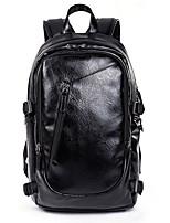 cheap -Men's Zipper PU Tote Solid Color Black