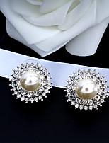 cheap -Women's Stud Earrings Earrings Dangle Earrings Pear Cut Drop Fashion Elegant Earrings Jewelry Silver For Wedding Party Anniversary Prom 1 Pair