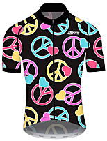 cheap -21Grams Men's Women's Short Sleeve Cycling Jersey 100% Polyester Black / Yellow Bike Jersey Top Mountain Bike MTB Road Bike Cycling UV Resistant Breathable Quick Dry Sports Clothing Apparel