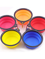 cheap -Dog Cat Feeders 0.01 L Other Leather Type Foldable Lolita Yellow Red Orange Bowls & Feeding