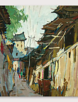 cheap -IARTS®Hand Painted Country road Oil Painting   with Stretched Frame For Home Decoration