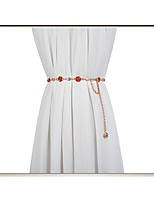 cheap -Metalic Wedding / Party / Evening Sash With Petal / Belt Women's Sashes