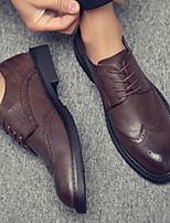 cheap -Men's PU Spring & Summer British Oxfords Wear Proof Khaki / Brown / Black