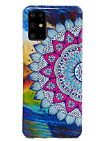 cheap -Case For Samsung Galaxy S20 / S20 Ultra / Glow in the Dark / Pattern Back Cover Flower TPU for Galaxy A10 A20 A30 A30S A40 A50 A50S A60 A70 A80 A90 M10 M20 NOTE9 NOTE10 NOTE10 PRO