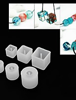 cheap -6 Piece Round Square Beaded Jewelry Hand Tools DIY Silicone with Hole Mold