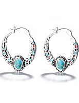 cheap -Women's Turquoise Earrings Classic Music Notes Stylish Artistic Luxury Trendy Korean Platinum Plated Gold Plated Earrings Jewelry Silver For Christmas Gift Daily Work Festival 1 Pair