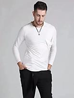 cheap -Latin Dance Tops Men's Performance Modal Ruching Long Sleeve Top