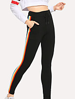 cheap -Women's Yoga Pants Drawstring Solid Color Black Running Fitness Gym Workout Bottoms Sport Activewear Breathable Soft Stretchy