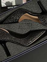 Недорогие -Жен. Свадебная обувь На шпильке Заостренный носок Полиуретан Весна лето Белый / Черный