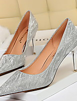 cheap -Women's Wedding Shoes Stiletto Heel Pointed Toe PU Spring & Summer Champagne / Silver