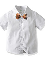 cheap -Kids Boys' Basic Solid Colored Short Sleeve Shirt White