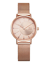 cheap -Women's Steel Band Watches Casual Fashion Stainless Steel Japanese Quartz Rose Gold Gold Silver Water Resistant / Waterproof 30 m 1 pc Analog One Year Battery Life