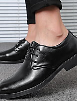 cheap -Men's PU Fall & Winter Casual Oxfords Walking Shoes Breathable Black / Brown