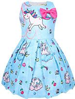 cheap -Kids Girls' Cartoon Dress Blushing Pink