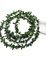 cheap -3M Simulation Green Leaf Rattan Light String Christmas Decoration Garland Serial Led Lights Decorated Indoor Wedding