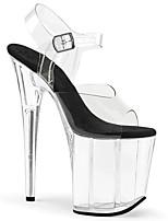 cheap -Women's Sandals Stiletto Heel Peep Toe PU British Summer White / Black