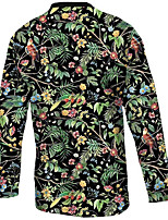 cheap -21Grams Men's Long Sleeve Cycling Jersey Downhill Jersey Dirt Bike Jersey 100% Polyester Black / Green Animal Floral Botanical Bird Bike Jersey Top Mountain Bike MTB Road Bike Cycling UV Resistant