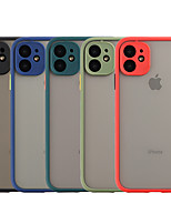 cheap -Case For Apple iPhone 11 / iPhone 11 Pro / iPhone 11 Pro Max Shockproof / Frosted / Translucent Back Cover Solid Colored TPU / PC