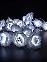 Недорогие -3 м 30 светодиодные гирлянды аа батареи светодиодные розы рождество теплые белые огни праздник струнные огни новый год свадебные украшения цветочные луковицы светодиодные лампы