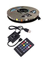 cheap -3m TV Background Light Strip Flexible LED Light Strips  RGB Strip Lights 90 LEDs SMD5050 10mm 1 24Keys Remote Controller 1 set Multi Color Waterproof  USB  Self-adhesive 5 V