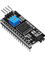 cheap -2PCS LCD1602 Adapter Board Module IIC I2C TWI SPI Serial Interface DC 5V Compatible with Arduino 1602 2004 LCD Display