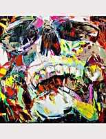 cheap -Palette Knife Portrait Skull Face Paintings Pop Art On Canvas Oil Painting Street Art Colorful Hand Painted Aall Art Picture