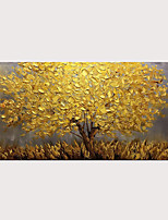 cheap -Oil Painting Abstract Golden Tree 3D Hand Painted on Canvas Texture Palette Knife Paintings with Stretched Frame for Home Decor
