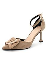 cheap -Women's Heels Stiletto Heel Pointed Toe Suede Spring & Summer Black / Blue / Khaki