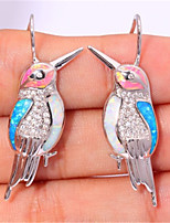 cheap -Women's AAA Cubic Zirconia Earrings Classic Bird Stylish Artistic Luxury Trendy Korean Platinum Plated Gold Plated Earrings Jewelry Silver For Christmas Wedding Gift Daily Work 1 Pair