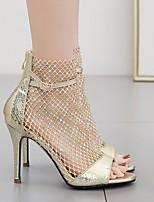 cheap -Women's Heels Stiletto Heel Pointed Toe PU Spring & Summer Gold / Black / Silver