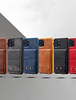 cheap -Case For Apple iPhone 11 /  11 Pro / 11 Pro Max/X/Xs/Xr/Xs Max/6P/7P/8P/6/7/8 Wallet  Shockproof Back Cover Solid Colored PU Leather