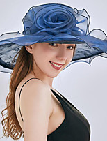 cheap -Vintage Style Fashion Tulle / Organza Hats / Headwear with Bowknot / Lace / Pattern / Print 1 Piece Wedding / Outdoor Headpiece