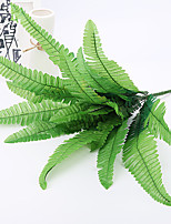 cheap -1Pcs Simulation Eighteen Persian Leaf Fake Flowers Green Plants Hotel Decorative Ferns