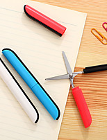 cheap -Safety Cute Pen Shape Foldable Scissors Portable Right Left Hand Scissors Knife for School Sudent Office Use Gift Idea