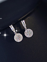 cheap -Women's Cubic Zirconia Earrings Classic Precious Sweet Earrings Jewelry White For Wedding Party 1 Pair