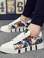 cheap -Men's Comfort Shoes Leather Spring & Summer / Fall & Winter Classic / British Sneakers Walking Shoes Breathable Orange / Blue
