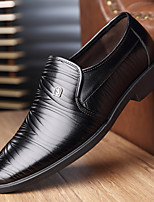 cheap -Men's Leather Spring / Spring & Summer Casual / Chinoiserie Loafers & Slip-Ons Walking Shoes Breathable Booties / Ankle Boots Black / Brown / Tassel