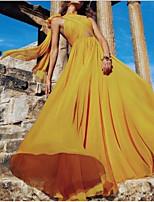 cheap -Women's Sheath Dress - Solid Color Yellow S M L XL